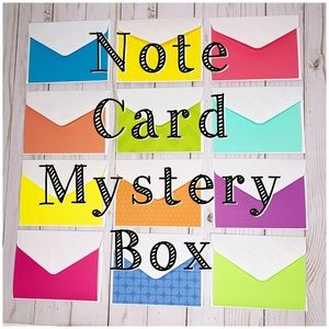 Other - MYSTERY BOX - 120 Blank Notecard & Envelope Sets